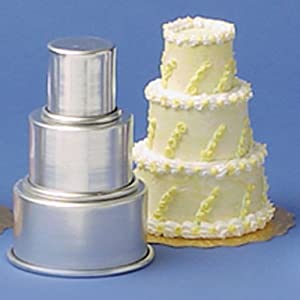 Tier Cake Pan Sets – Multi Round 2, 3 or 4 Mini and Standard Sizes