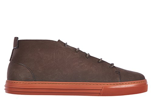 Gucci polacchine stivaletti scarpe uomo pelle eugene marrone EU 41 342045 AIX00 2142