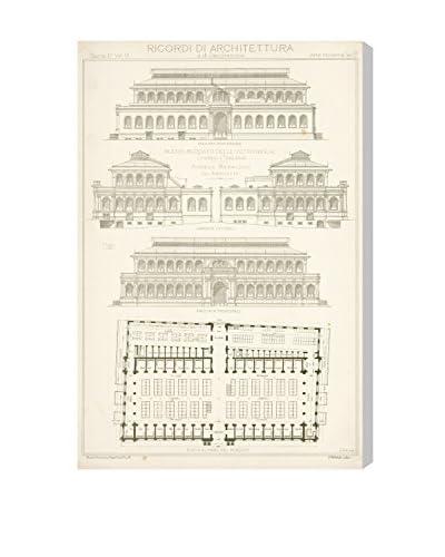"""The Art Cabinet """"Nuovo Mercato Delle Vettovaglie"""" Canvas Print"""