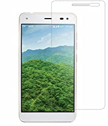 Lyf Earth 1 Compatible Tempered Glass Screen Protector (Antishock, Curved Edged) (Pack of 2, Only Front Transparent Screen Protector) (Combo Offer, get a VJOY EP-10 Champ in the ear earphone, with mic (BLUE) Compatible with Lyf Earth 1 worth Rupee 599/- absolutely free with Screen Protector)