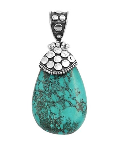 Sterling Silver Turquoise Stone Pendant