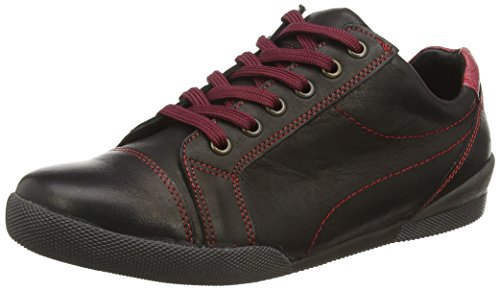 Andrea Conti 0619248, Low-Top Sneaker donna, Nero (002), 36