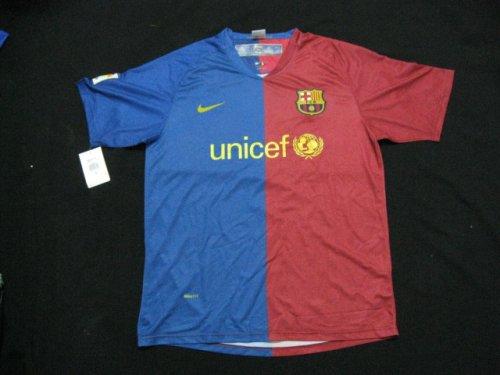 08-09 FC BARCELONA JERSEY + FREE SHORT (SIZE M)