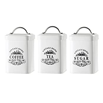 Amici Vintage Home Metal Jar - Set of 3