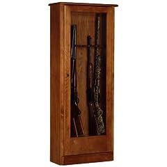 American Furniture Classics 724-10 10 Gun Cabinet, Medium Brown by American Furniture Classics