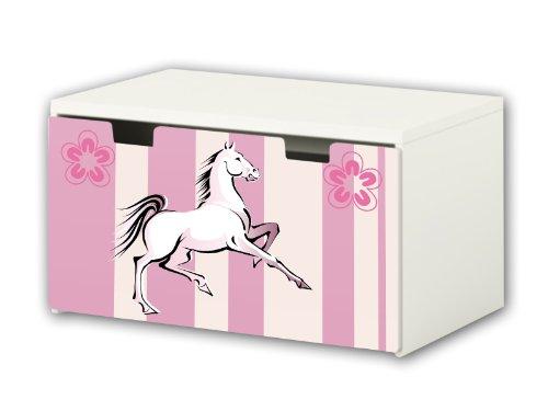 Horse World Sticker suitable for Children`s Storage Bench STUVA from IKEA (90 x 50 cm) - BT14