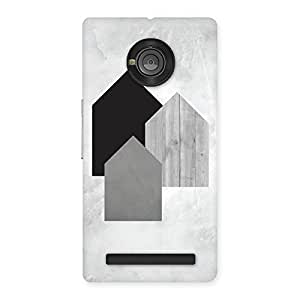 Delighted Black Grey White Back Case Cover for Yu Yuphoria