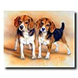 Art Prints Inc Baby Beagle Puppy Dogs Hunting Animal Home Decor Wall Picture Art Print