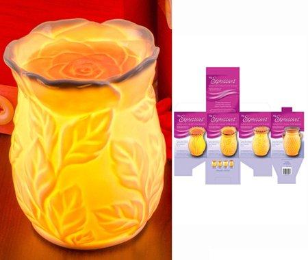 Jkl Expressions Electric Translucent Glowing Tart Warmer - Rose 762790