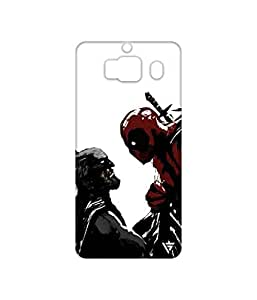 Vogueshell Batman And Deadpool Printed Symmetry PRO Series Hard Back Case for Xiaomi Redmi 2s