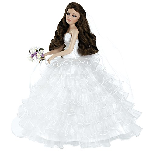 Paradise Galleries Collectible Porcelain Bride Doll - Bellisima, 18.5 inches Tall