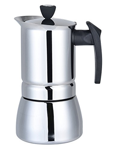 Generic 450 ML, 9 Cup Stainless Steel Moka Stovetop Espresso Maker Latte Percolator Stovetop Espresso Maker Coffee Maker Pot For Use On Gas Electric And Ceramic Cooktops