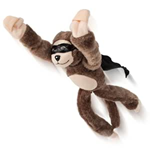 niceeshop(TM) Brown Funny Soft Plush Toys Slingshot Flying Screaming Monkey with Battery