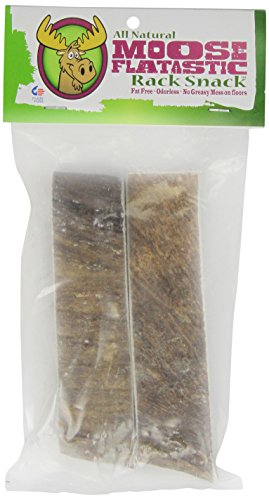 Chasing Our Tails 2-Pack 100-Percent Naturally Shed Moose Antler Chew Flatastic Snack , Large, 5-8-Inch