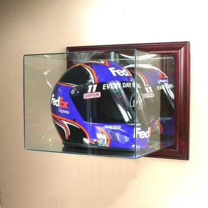Auto Racing Images  Sale on Auto Racing Helmet Glass Display Case Wall Mounted With Cherry