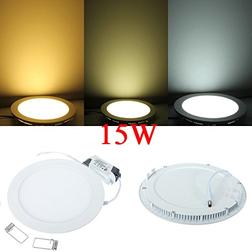 15W Round Ceiling Ultrathin Panel Led Lamp Downlight Light 85-265V