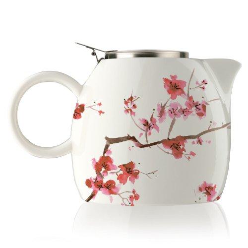 Tea Forte Pugg Ceramic Teapot - Cherry Blossoms