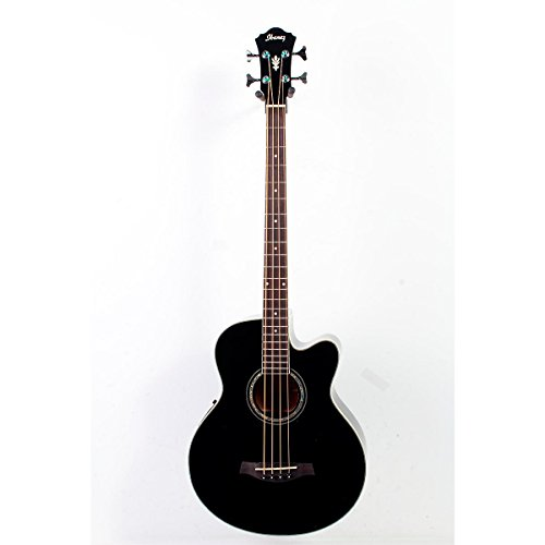 Ibanez Aeb10E Acoustic-Electric Bass Guitar With Onboard Tuner Gloss Black 888365250038