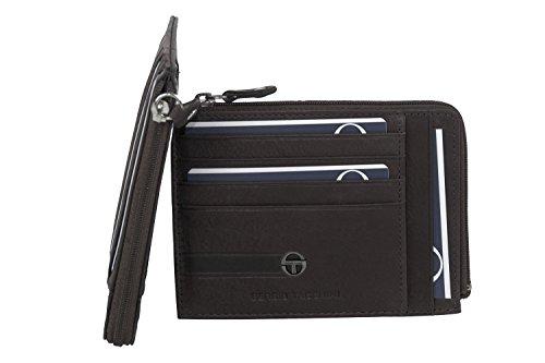 Portafoglio uomo SERGIO TACCHINI moro in pelle tasca porta carte con zip A5221
