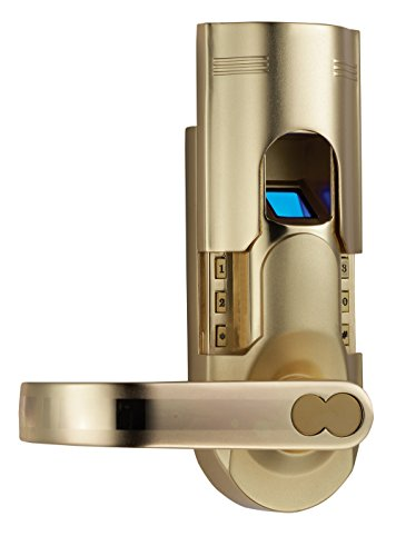 Digi Electronic Biometric Fingerprint + Keypad Password Door Lock Set Intersected Gold (Left Hand Door) 6600-86