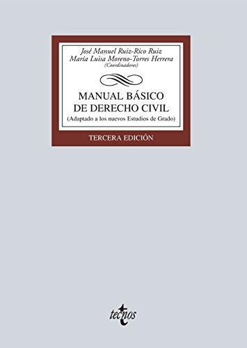 Manual Básico De Derecho Civil. Adaptado A Los Estudios De Grado (Derecho - Biblioteca Universitaria De Editorial Tecnos)