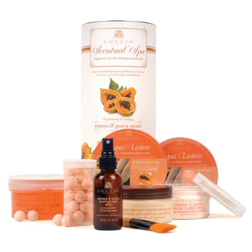 CUCCIO NATURALE Papaya & Guava Nectar Scentual Spa Signature Service Enhancement Kit