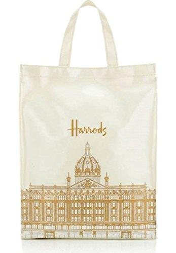 英国 Harrods(ハロッズ)裏地付き トートバッグM アーキテクチャ Architecture Shopper Bag [並行輸入品]