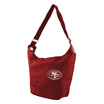 NFL San Francisco 49ers Ladies Color Sheen Hobo Purse, Red by Littlearth