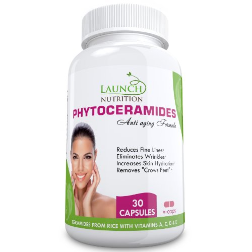 #1 Phytoceramides - Highest Quality Plant Derived From Rice - Clinically Superior To 350Mg Wheat - 100% All Natural Anti Aging Skin Care Supplement - Gluten Free - Skin Restoring Supplement For Ultimate Results - Supports Natural Skin Rejuvenation - 30 Ca