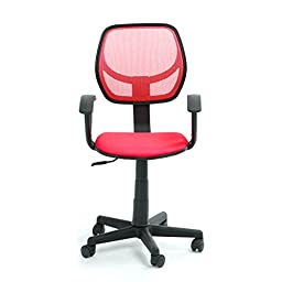 VECELO Contracted discount Office Chair Comfortable Mesh Fabric Pads Computer Chair 360 Degree Adjustable Task Chair