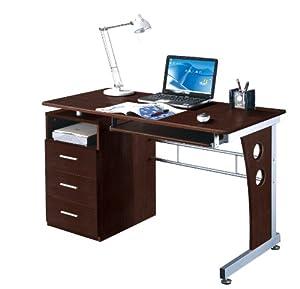 Amazon.com - Techni Mobili Computer Desk with Storage, Chocolate