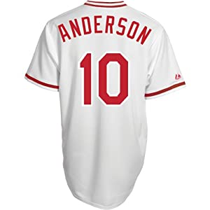 Majestic Athletic Cincinnati Reds Sparky Anderson Replica Cooperstown Home Jerse by Majestic Athletic