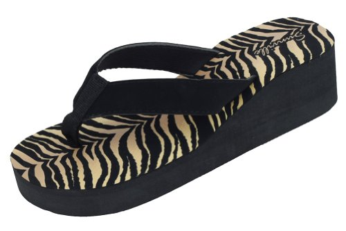 Sunville Women`S Fashion Flip Flops,6 B(M) Us,Tiger front-778061