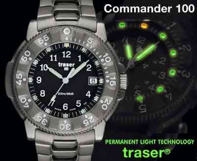 Traser Commander 100 Titanium Watch SWISS MADE