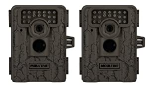 2 MOULTRIE Game Spy D-333 Low Glow Infrared Digital Trail Hunting Cameras - 7MP