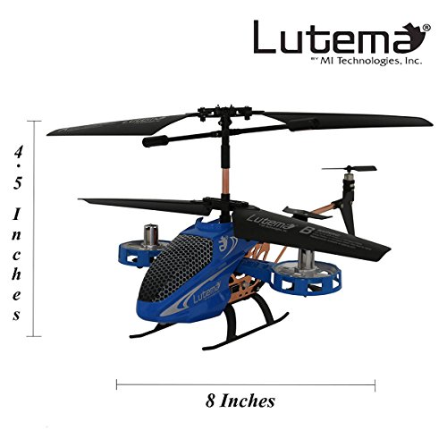Lutema Avatar 2 Hovercraft 4CH Remote Control Helicopter, Blue