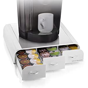 "Mind Reader ""Anchor""Coffee Pod Storage Drawer for 36 Keurig K-Cup,42 CBTL/Verismo Coffee Pods, White"