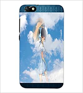 PrintDhaba Lovely Girl D-2493 Back Case Cover for HUAWEI HONOR 4X (Multi-Coloured)