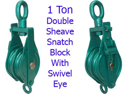 1 Ton Double Sheave Snatch Block 4