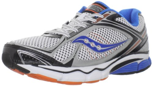 Saucony Men's Progrid Echelon 3 Running Shoe,White/Blue/Orange,9.5 W US
