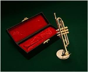 飾り物 ミニチュア楽器 トランペット 1/6サイズ