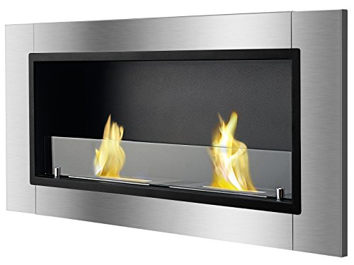Ventless Ethanol Fireplace - Lata With Front Glass, Recessed Ethanol Fireplace By Ignis