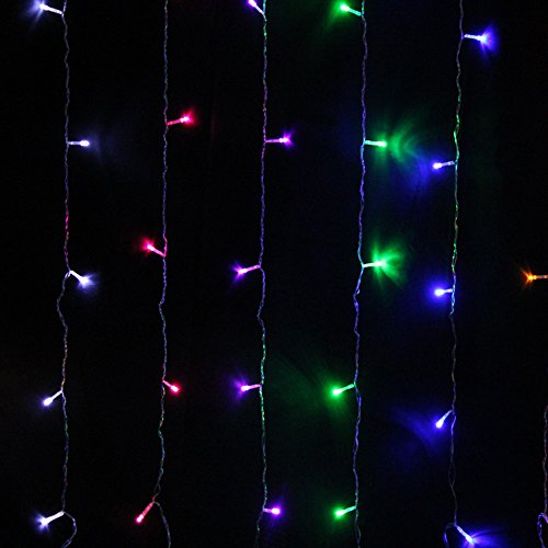 Led String Lights Home Hardware : String Light Curtain,Sunvito 3Mx3M 300 LED Fairy String Light Icicle Lights for Christmas Xmas ...