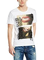 Guess Camiseta Manga Corta Lips (Blanco)