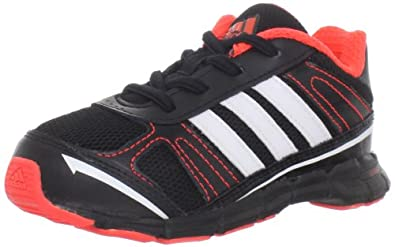 adidas AdiFast AC I Running Sneaker (Infant/Toddler),Black/Infrared/Running White,4 M US Toddler
