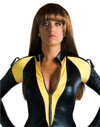 Adult Womens Costume Long Brown Straight Watchmen Silk Spectre Wig