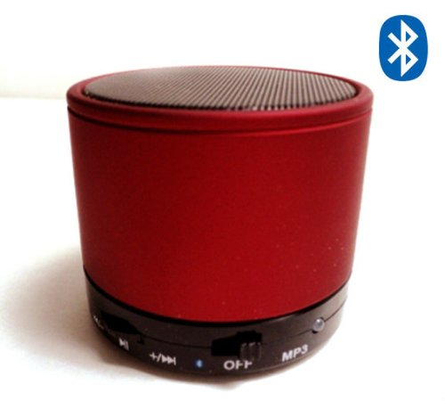 Mini-Beats Bluetooth Wireless Mini Speaker For Iphone / Ipad / Ipod / Mp3 Player / Laptop - Built-In Microsd Card Slot - Amazing Sounds (Red)