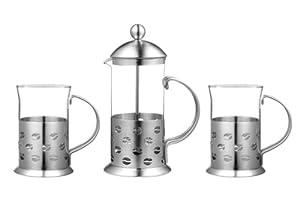 Premier Housewares Service à café Inox 3 pièces