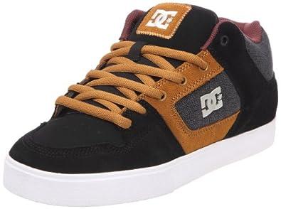 Dc - Mens Radar Slim Se Wrapped Cup Shoe, Size: 9 D(M) US, Color: Black/Tan