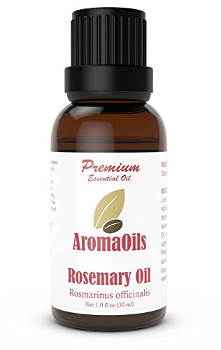 Rosemary Essential Oil by AromaOils - 1 oz (30 ml) - Best Used Now for Aromatherapy, Pain Relief, Stress Management, DIY Skincare and Hair Growth - 100% Pure Therapeutic Grade